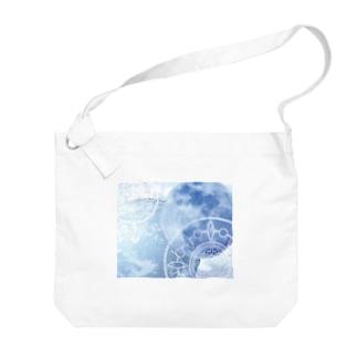 目覚める月 地球バージョン Big shoulder bags