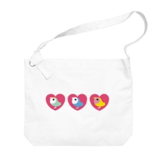 3 HEART KOZAKURA Big shoulder bags