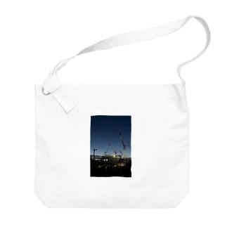 建設現場のクレーン Big shoulder bags
