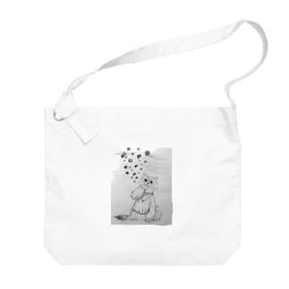 leo_knit(mono) Big shoulder bags