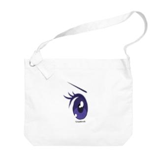 Cartoon Eye Big shoulder bags
