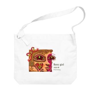 ボクシーなガール-O Big shoulder bags
