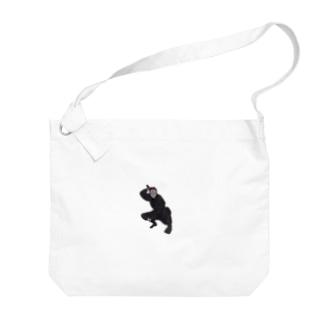 忍者・キツネ面 Big shoulder bags