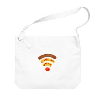 ペパロニピザのWiFi Big shoulder bags