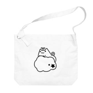 もくもく有葉猫 Big shoulder bags