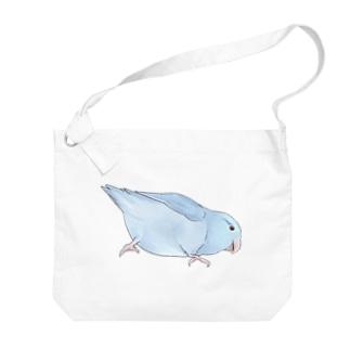 マメルリハ もちふりちゃん【まめるりはことり】 Big shoulder bags