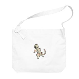 ネコ Big shoulder bags