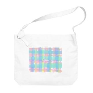 ワンコ Big shoulder bags