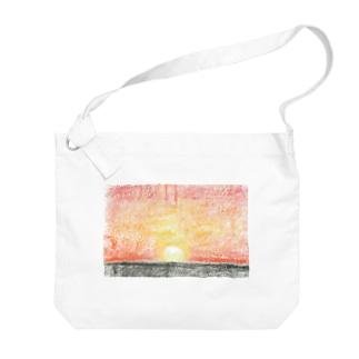 ゆうがたの海 Big shoulder bags