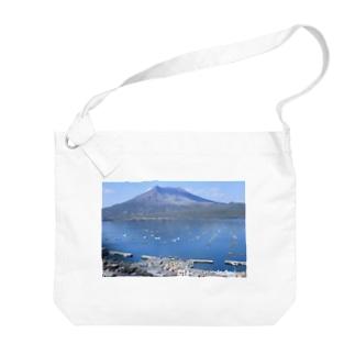 鹿児島 桜島風景 Big shoulder bags