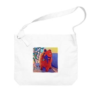 お洒落なチョコボールくん Big shoulder bags