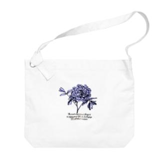 flower Big shoulder bags