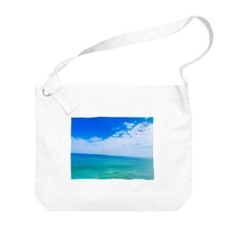 爽やかな海 Big Shoulder Bag