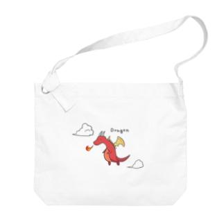 Fire Dragon  Big shoulder bags