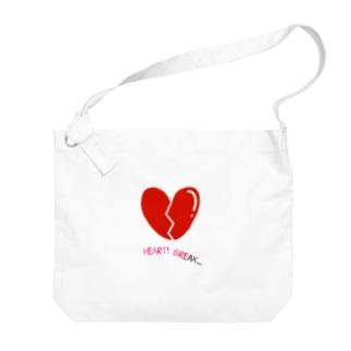 ハートブレイク Big shoulder bags