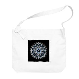 カレイドスコープ−点描曼荼羅 Big shoulder bags