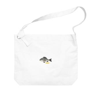 チヌくん(クロダイはん) Big shoulder bags