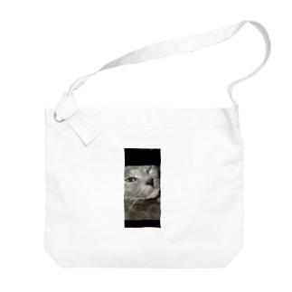 ウィンク猫 Big shoulder bags