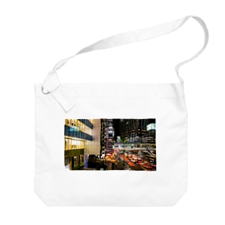 渋谷の夜景 Big shoulder bags