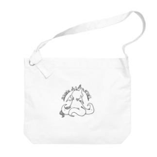 冒涜的な猫ルフ(背中色なし) Big shoulder bags