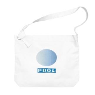 プール Big shoulder bags