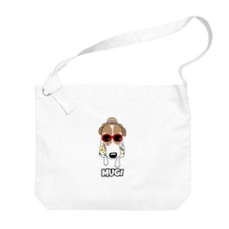 むぎ仙人 Big shoulder bags