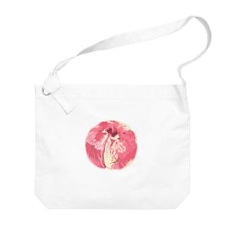 桃 Big shoulder bags