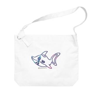不思議なコーヒーポット☆あっち向き Big shoulder bags