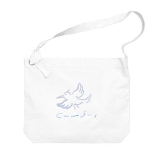 鳥さん Big shoulder bags