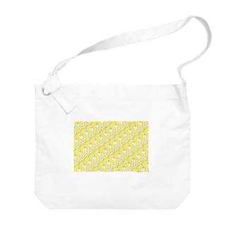 いっぱいきりんさん 黄色 Big shoulder bags