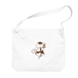 ねこねこカフェ Big shoulder bags