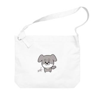 wafuniのゆるいぬ (ネーム入り) Big shoulder bags