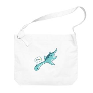 ぼくプレシオサウルス Big shoulder bags