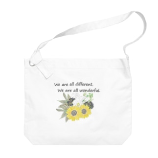 花を wonderful ver. Big shoulder bags