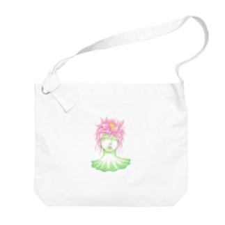 蓮の精 Big shoulder bags