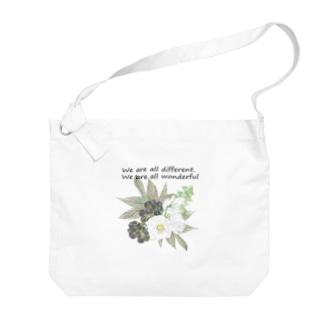 トルコキキョウ wonderful ver. Big shoulder bags