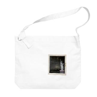 自由の女神額つき(kitsuneのアクリル画シリーズ) Big shoulder bags