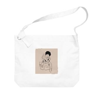 歯みがきタイム Big shoulder bags