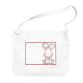 可愛いうさぎ Big shoulder bags
