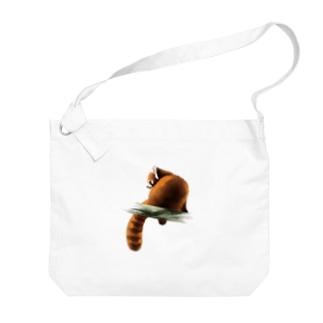 Animals シリーズ 〜レッサーパンダ〜 Big shoulder bags