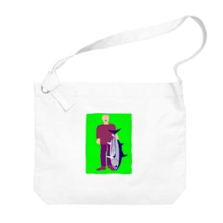 カツオ Big shoulder bags