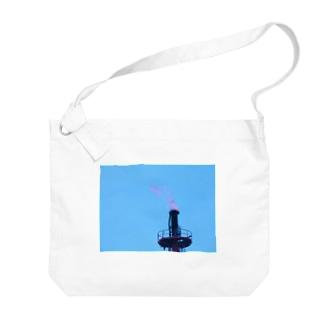 炎(写真) Big shoulder bags
