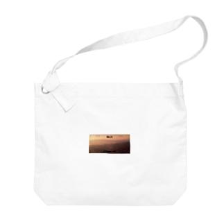 ナンバープレート【夕】 Big shoulder bags