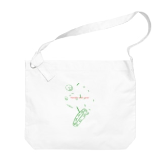 Ohashiの取り扱い注意(タンバリン) Big shoulder bags