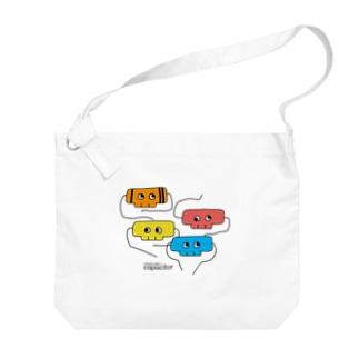 ドクロのコンデンサー2 Big shoulder bags