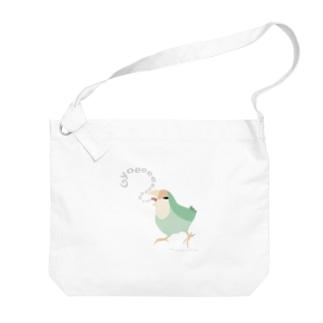 Gyoeeeeeコザクラインコ Big shoulder bags