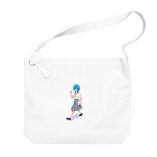 日直セーラー女の子 Big shoulder bags