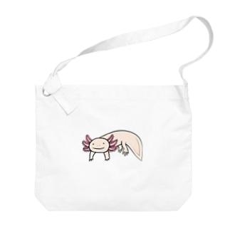 かわいいウーパールーパー Big shoulder bags