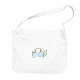 ティッシュ Big shoulder bags