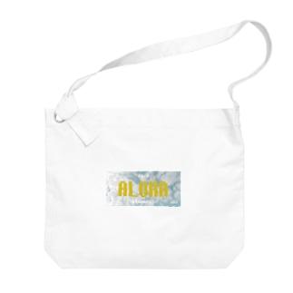 ナンバープレート【ALOHA】 Big shoulder bags